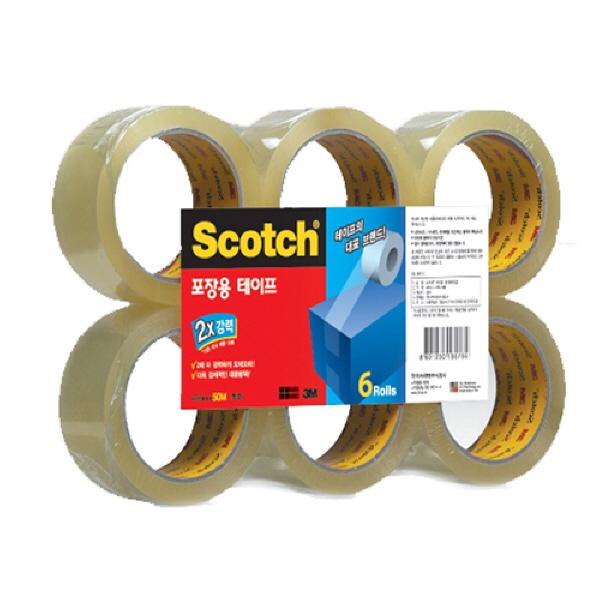 (8801230165772)3M 스카치 포장용테이프 3615-6 (48mmx50m) 6입 갈색