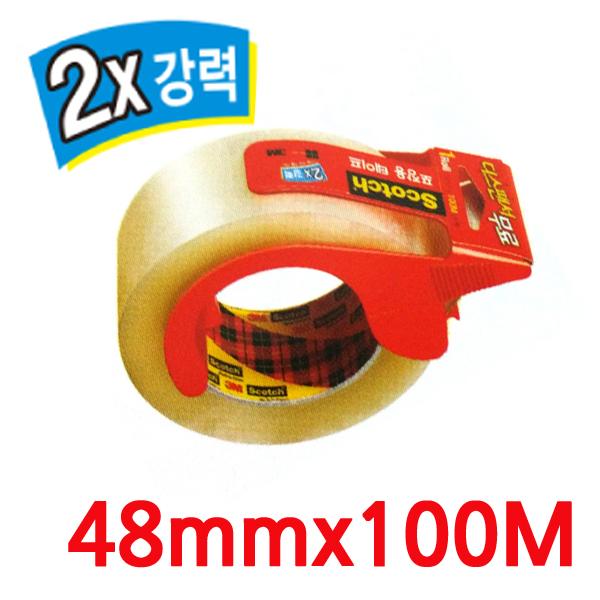 (8806080000051)3M 스카치 포장용테이프 3615 (48mmx100m) 투명+디스팬서 무료