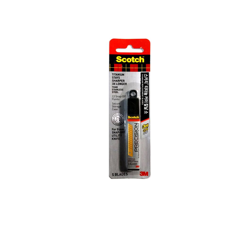 (051141976563)3M 스카치 티타늄 커터칼날(소) 9mm TI-RS (5개입) /커터리필